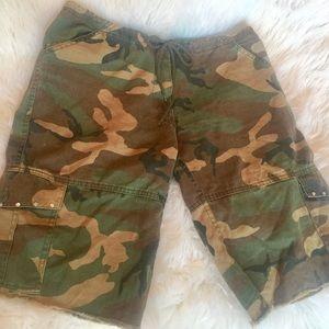 Pants - Women's Camouflage & Sequin Shorts